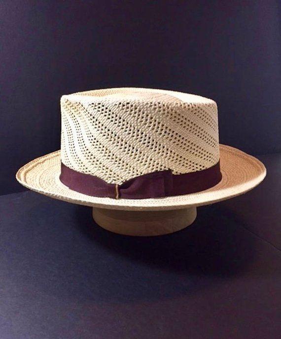 1e538377312 Panama Hat New Custom Made Semi Calado Straw Hat Fedora Size 7 1 4 ...