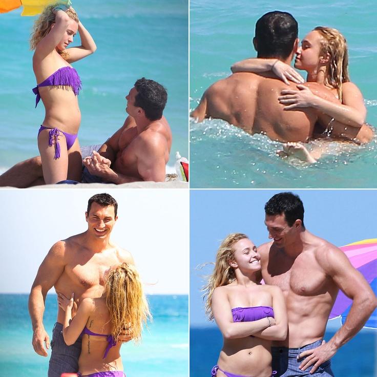Hayden Panettiere Heats Up Miami Beach in a Bikini With Her Boyfriend Wladimir Klitschko
