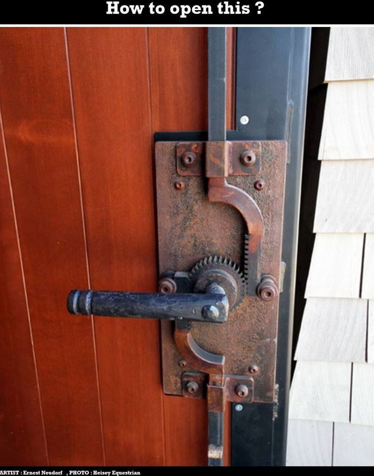 Neat Way To Make Secure Door Lock. But Watch Your Fingers
