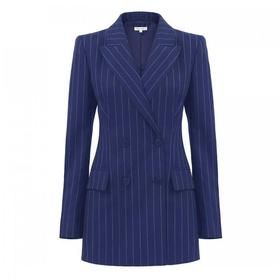 Pinstripe Double Breasted Jacket by Bella Freud