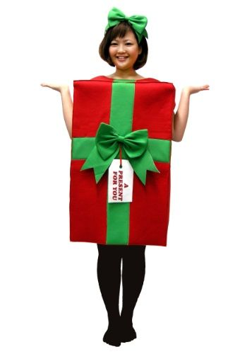 We've got a present for you. It's wrapped in red paper and tied with a green bow. What's inside? YOU! Give him the greatest gift of all...you! Slip into this Present Costume and make his holiday jolly!                                                                                                                                                                                 More