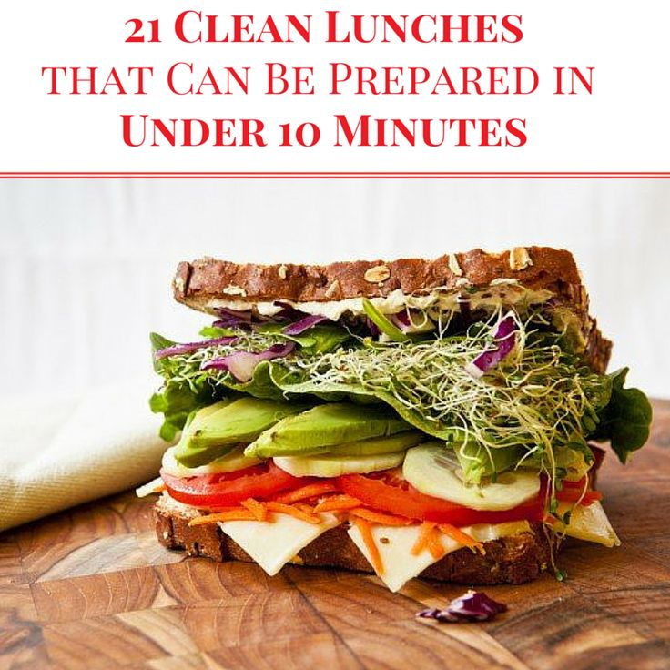 21 Clean Lunches Prepared in Under 10 Minutes - eat clean all day long! #cleaneating #lunches #mealplanning