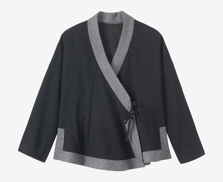 TOAST | Soft Wool Wrap Jacket