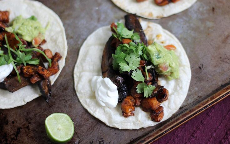 6 Easy Taco Recipes Under 400 Calories http://ift.tt/2kmK6Db  A great versatile weeknight meal tacos are easy to make and easy to keep healthy. Whether you take them vegetarian pescaterian or you go carnitas-inspired these six recipes are low in calories filled with protein and fiber and can be ready in less than 30 minutes.  1. MARINATED MUSHROOM  SWEET POTATO TACOS   MYFITNESSPALS RECIPES  Portobello mushrooms and sweet potatoes make for a filling vegan taco packed with flavor and fiber…