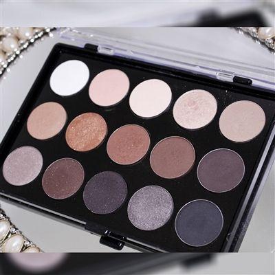 Paleta de Sombras 15 cores Bitarra  * A Bitarra Beauty inovou ainda mais uma paleta com tons de sombra neutros, agora opacos e cintilantes, Super pigmentada Ideal para qualquer maquiagem, desde a mais simples até a mais sofisticada. 8 cores opacas, 3 cores com brilho e 4 cores cintilantes.