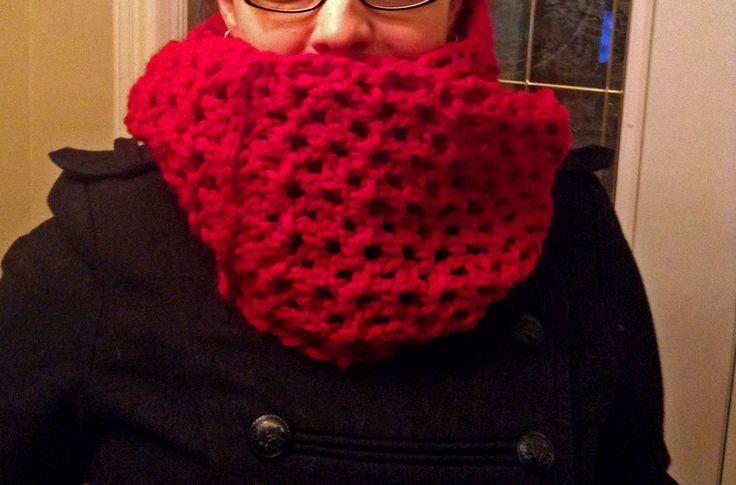Bulky v-stich infinity scarf