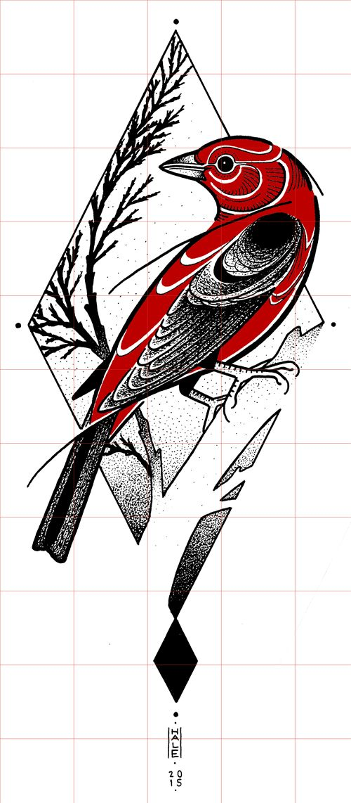 david hale bird red