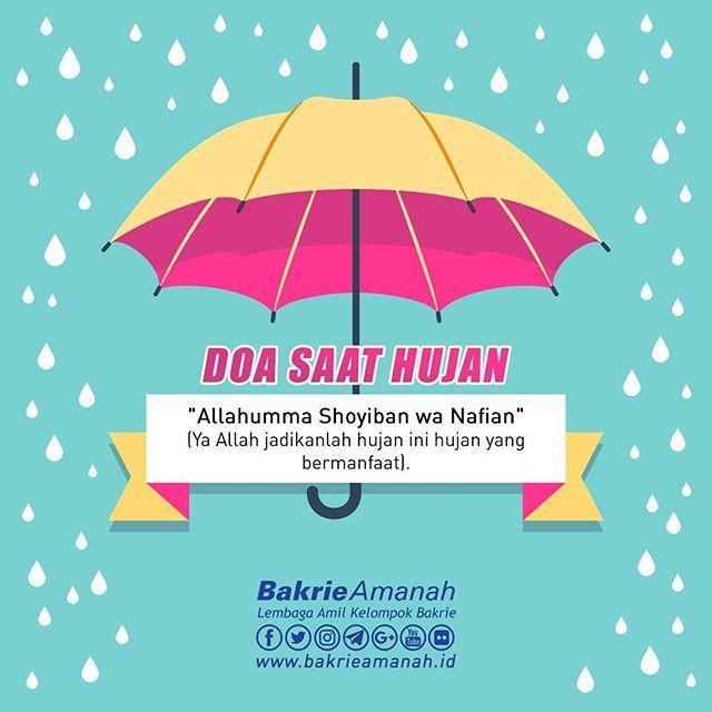 """اللهم صيبا نافعا  : : :  """"Ya Allah, Jadikanlah hujan ini hujan yang bermanfaat""""  : : :  Contact  M : 0818 08 00 11 44  E : info@bakrieamanah.id  W : www.bakrieamanah.id  : : :  #BakrieAmanah #BakrieUntukNegeri #Bakrie #Hujan #Quotes #Doa"""