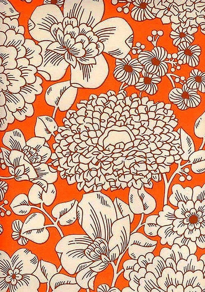 022 Floral Print | Orange