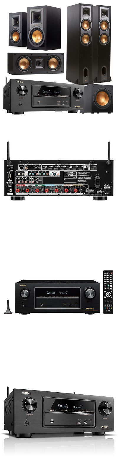 Home Theater Receivers: Denon Avrx2300w 7.2 Channel A V Receiver And Klipsch 5.1 Speaker Package (Black) -> BUY IT NOW ONLY: $1599 on eBay!