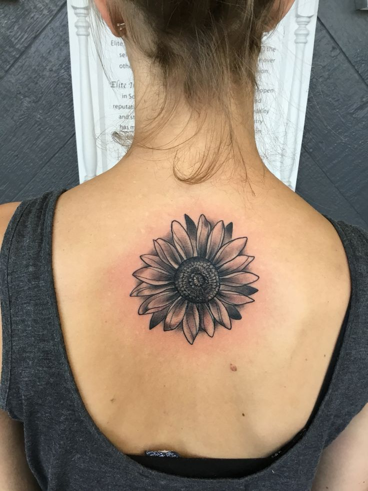 Sunflower back tattoo | tattoos | Sunflower tattoos ...