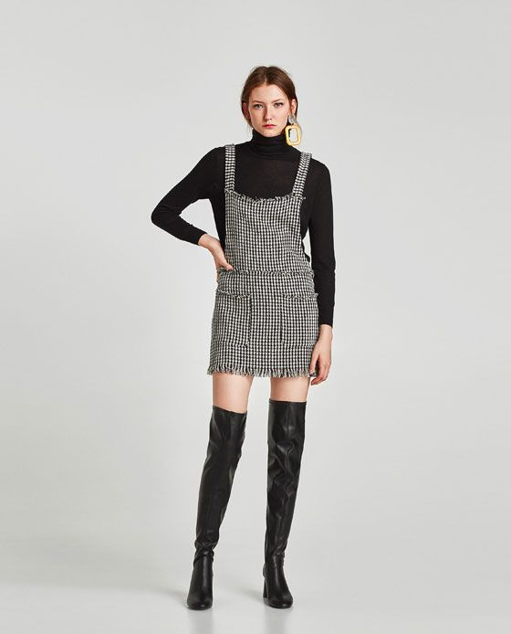 ZARA - TRF - TWEED PINAFORE DRESS