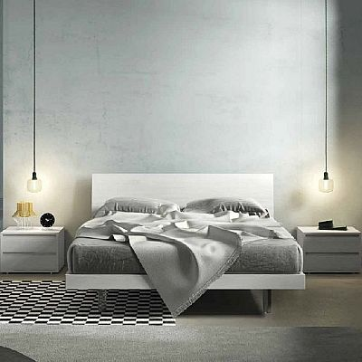 Contemporary, elegant 'Sheets' bed by Orme