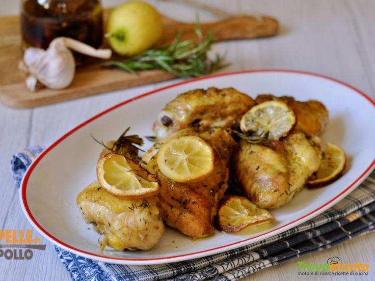 Pollo al forno con limone e rosmarino  #ricette #food #recipes