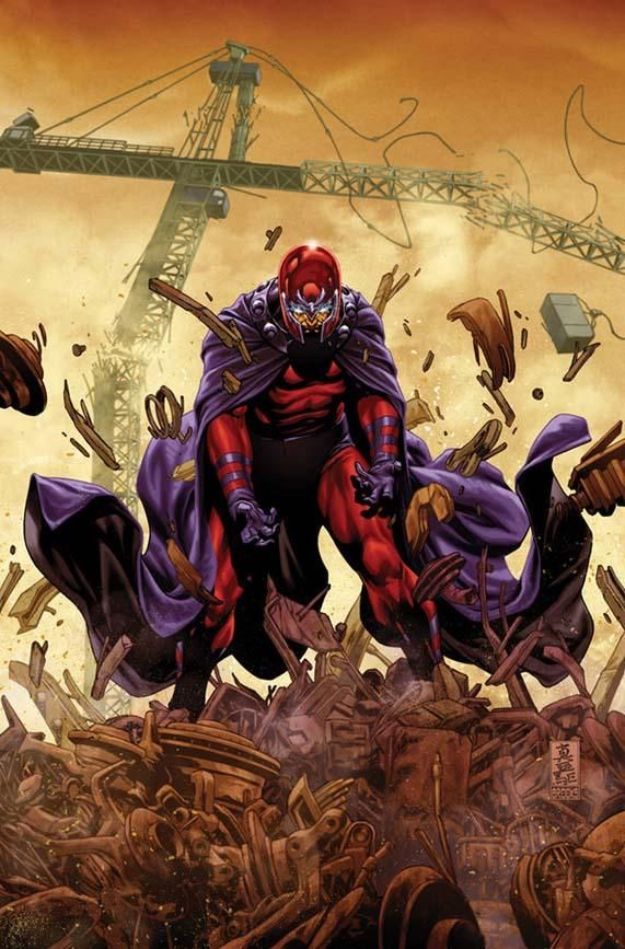 Magneto cover                     Comic Illustrations by Mark Brooks