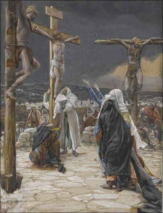 Jesus Christ: Extraordinary painting depicting Our Lord's most painful Death on the cross with a dark background. Description from pinterest.com. I searched for this on bing.com/images