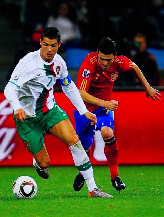 Cristiano Ronaldo ⚽ David Villa