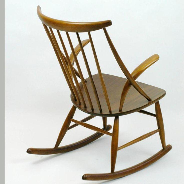 Scandinavian Rocking Chair by Illum Wikkelsö 2