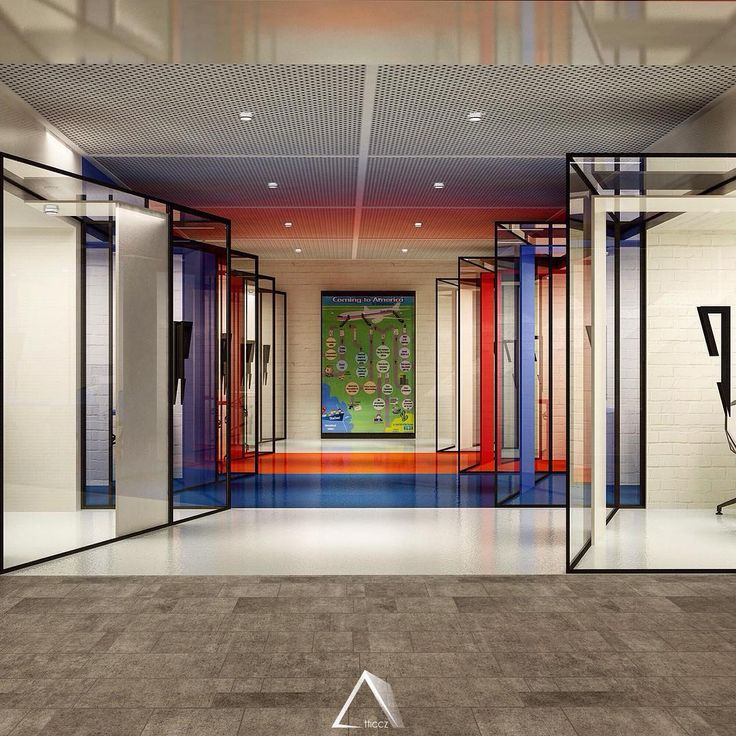 Consultancy Rooms - American center #rooms #design #color #blue #red #white