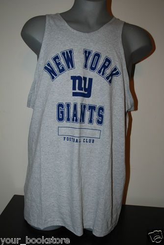 New New York Giants NFL Team Apparel Tank Top  Style: NFL Team Apparel  Size: Men's 2XL  Screen Print  Color: Light Gray  MSRP $24.99