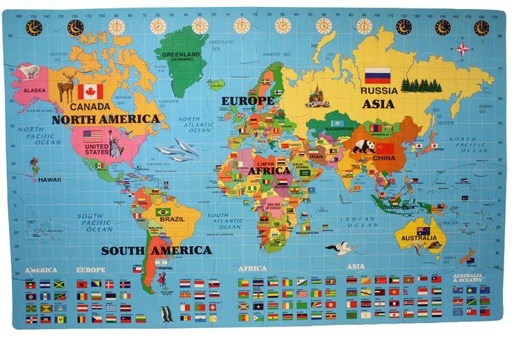 Foam World Map Kit - Soft Mat for Kid's