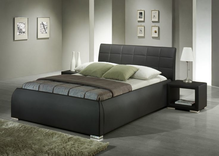 Modern Stylish Beds best 25+ black leather bed ideas on pinterest | vaulted ceiling