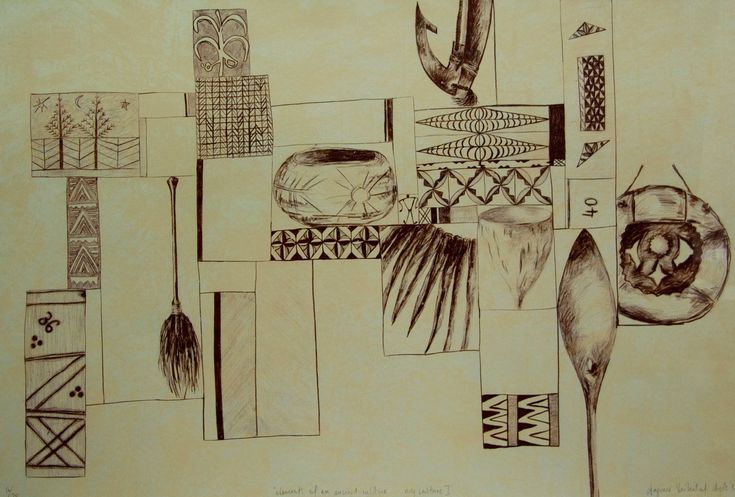 Elements of an Ancient Culture ... my culture I Limited Edition Print