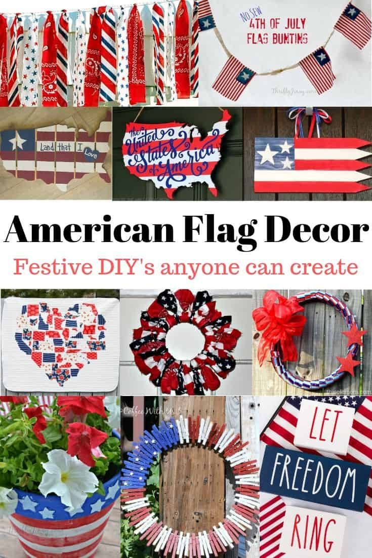 American Flag Inspired Decor and DIY's Anyone can Create