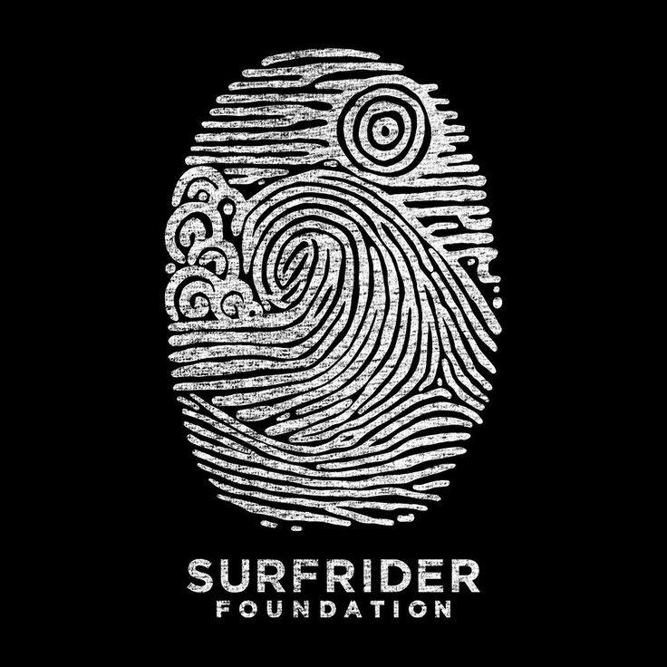 Artist Series Fingerprint Womens Tshirt The Surfrider