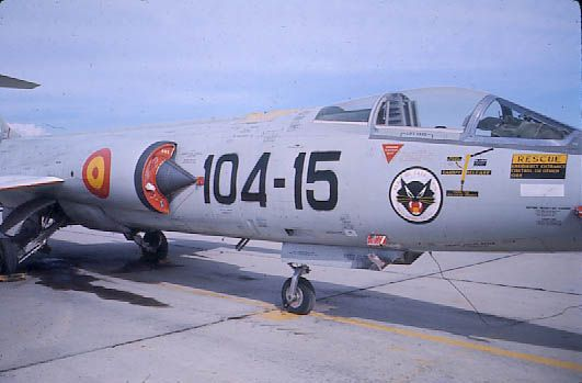 F-104G 161 Escuadrón Spanish AF Torrejon AB in the mid 60s F-104G, c
