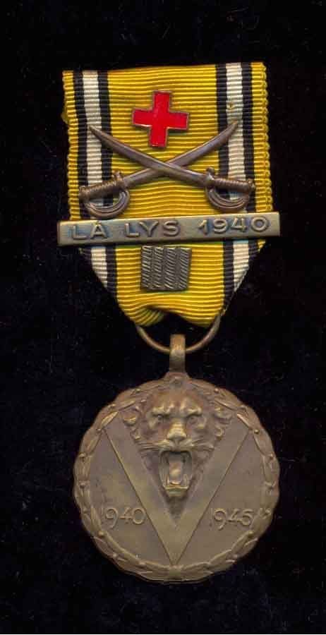 BE Herinn.med. 1940-45 Bar:LA LYS 1940-4 jaar krijgsgevangen-Rood Kruis-Sabels | eBay