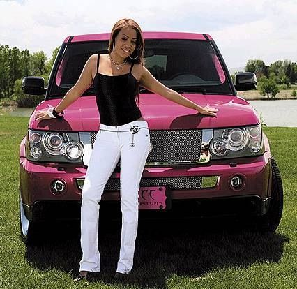 Lala's Customize Pink Range Rover
