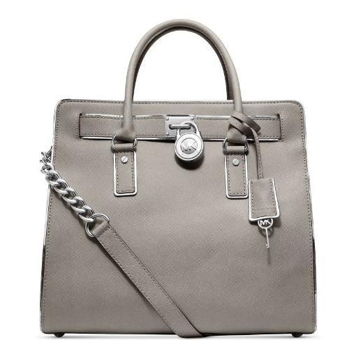 286-Michael-Kors-Hamilton-Specchio-Pearl-Grey-Leather-Tote-for-Women-1.jpg (510×510)