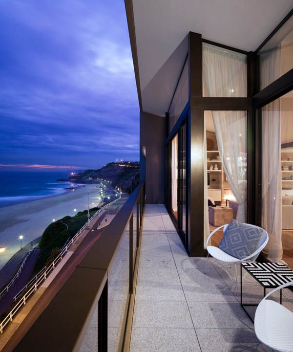 Splendid view of the outdoors from the Royal Penthouse II in New South Wales, Australia by Coco Republic Interior Design.