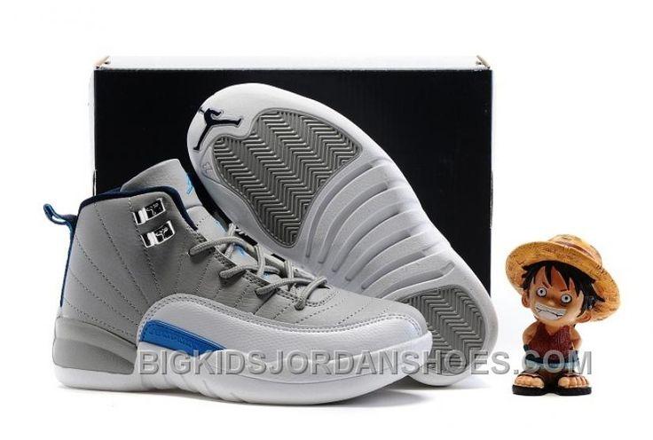 "http://www.bigkidsjordanshoes.com/2017-kids-air-jordan-12-wolf-grey-university-blue-basketball-shoes-online.html 2017 KIDS AIR JORDAN 12 ""WOLF GREY/UNIVERSITY BLUE"" BASKETBALL SHOES DISCOUNT Only $85.00 , Free Shipping!"