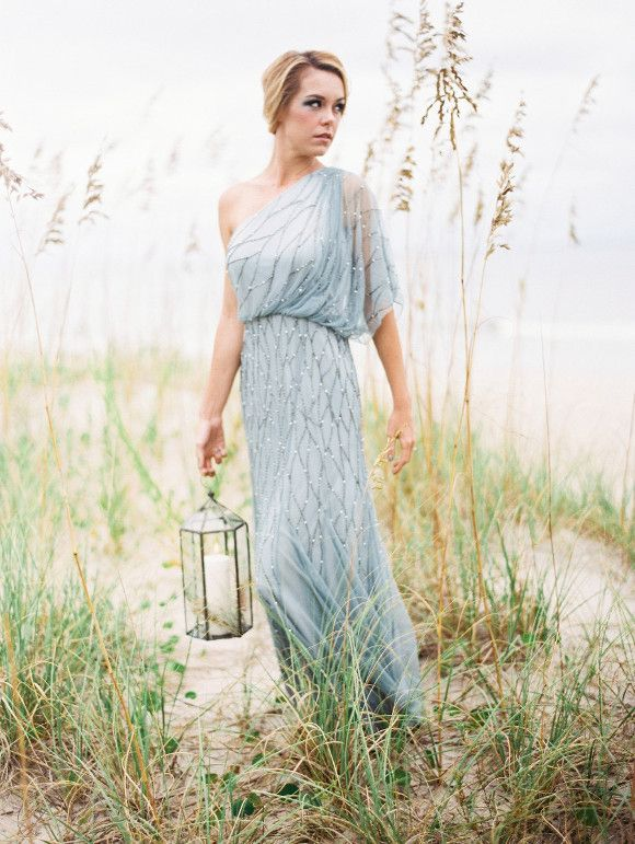Pale Blue Coastal Wedding Inspiration | Perry Vaille Photography