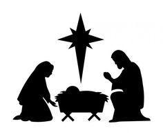 Manger Silhouette | Nativity silhouette patterns