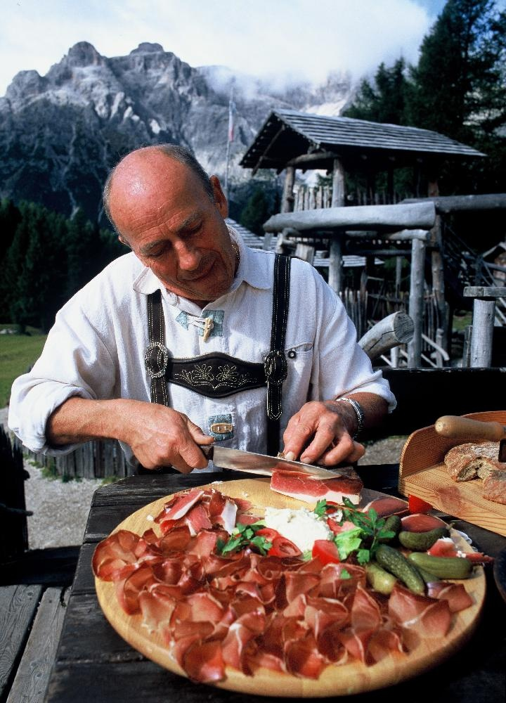 South Tyrol offers a mix of Alpine and Italian flavours, local specialities like: Speck, a lightly smoked, cured ham, which is one of the most celebrated foods in Alto Adige