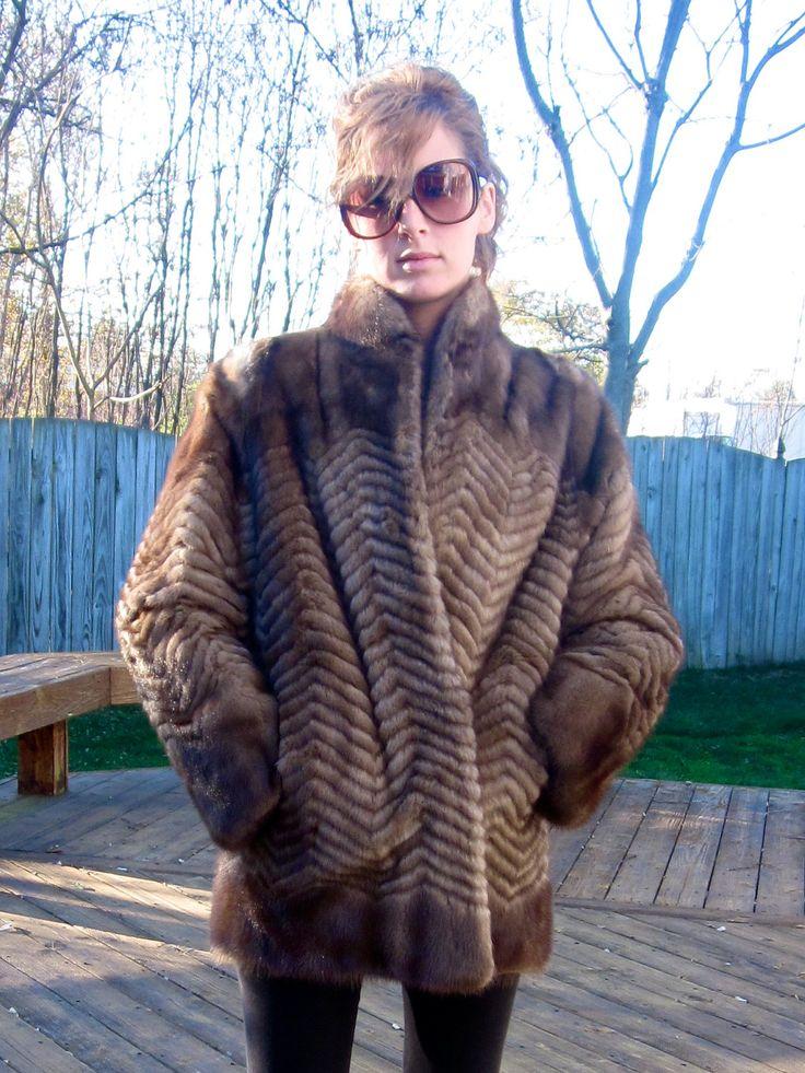 Old Mink Coats for Sale | Sale -- Vintage Mink Fur Coat - Chevron ...