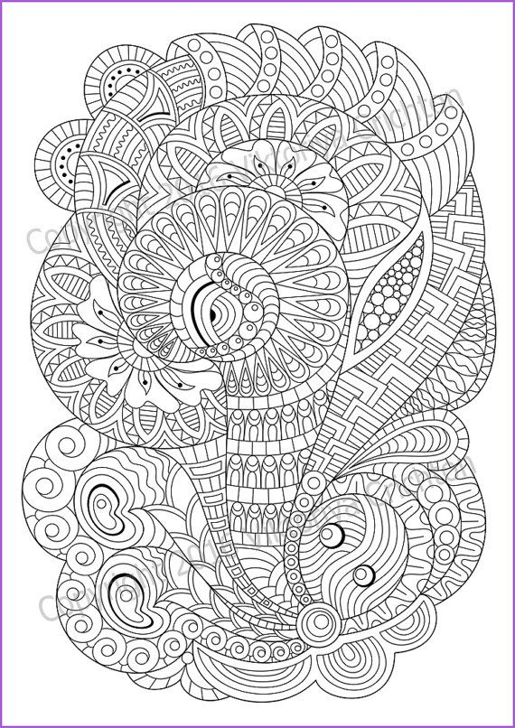 Coloring Page For Adult And Children Pdf Zentangle