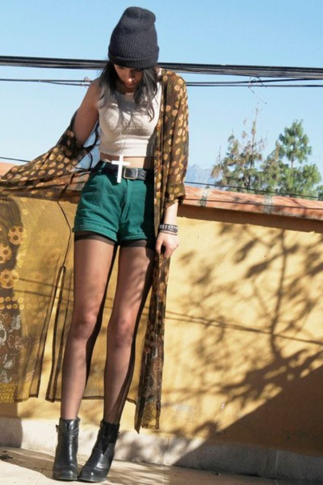 modern grunge fashion | gorgeous # dip dye # camel