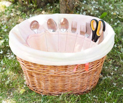 Diy Bolsa/cesta para picnic