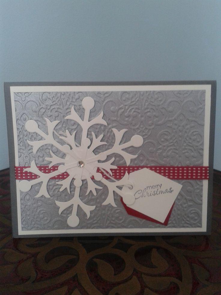 Snowflake Christmas DIY Card