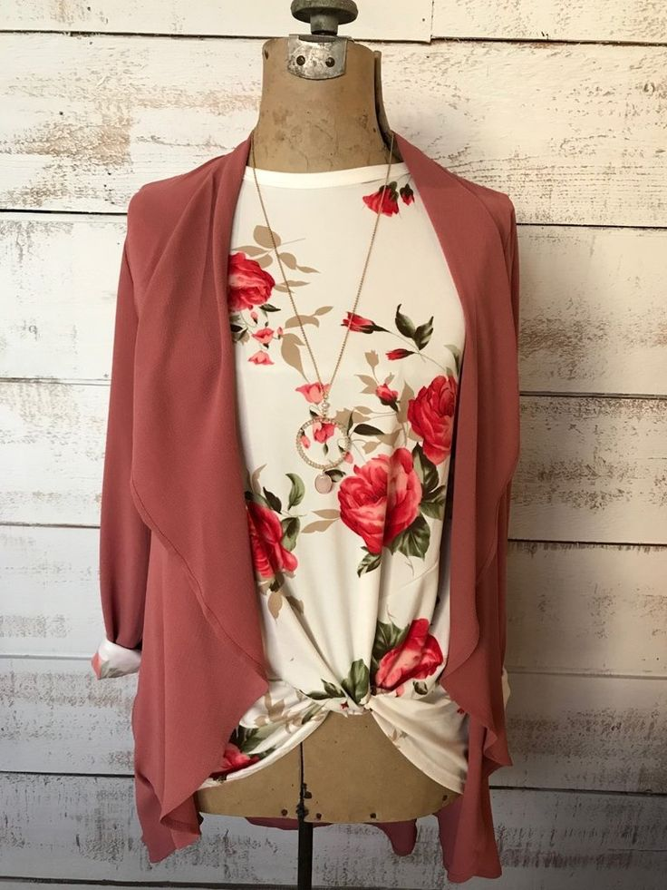 Pink Blazer Style Tie Cardi  The Passionate Home - Langley