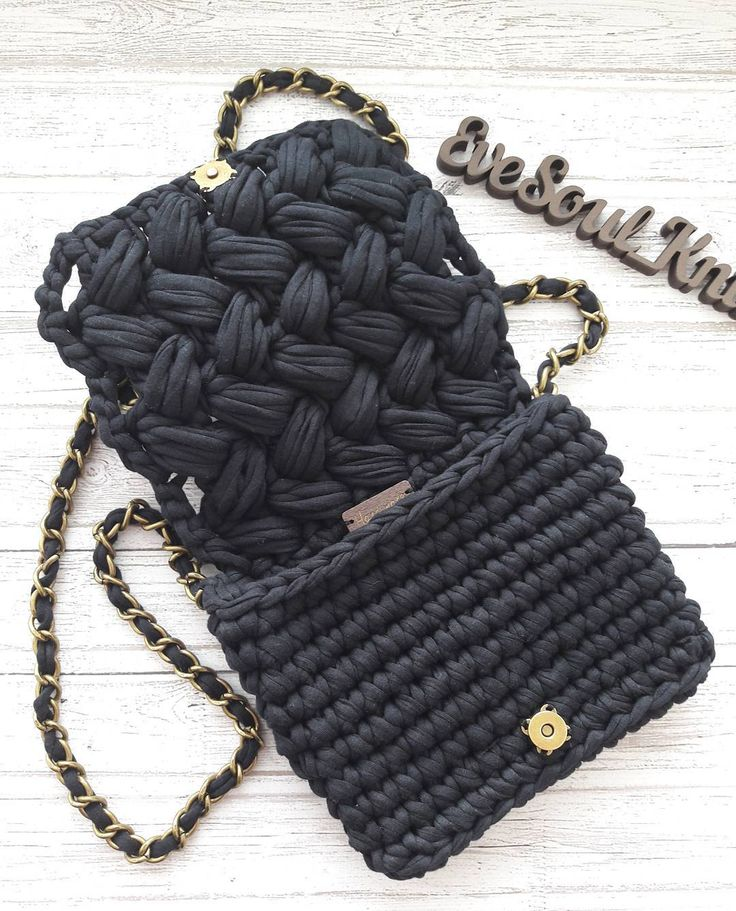"58 Likes, 1 Comments - Bags, home decor (@evesoul_knit) on Instagram: ""☄In details☄ 450грн.  #трикотажнаясумочка #crochetedbag #crochetedbaskets #homedecorbascets…"""