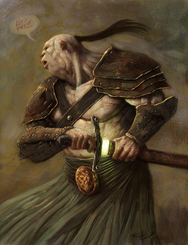 Half Orc Portrait 17 Best images about O...