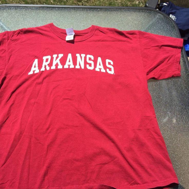 Mens New Agenda Arkansas Razorbacks Red T Shirt Sz XL 100% Cotton #NewAgenda #ArkansasRazorbacks