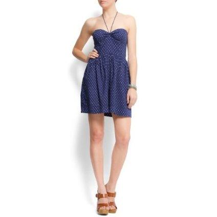 Mango Women`s Polka-dots Bustier Dress
