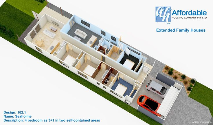 Floorplan Design 162 1 Seaholme Extended Family House
