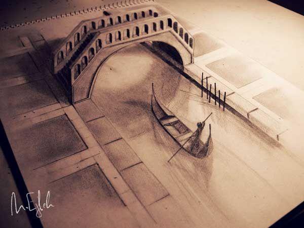 20 Gambar Lukisan 3D Menggunakan Pensil yang Menakjubkan